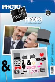 Photo booth props huwelijk 20 stuks (98063PHZ)