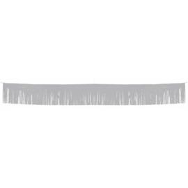 Zilverkleurige franje slinger / vlaggenlijn - 6 mtr (22646F)
