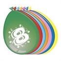 Ballonnen 8 jaar (30cm, 8 stuks)