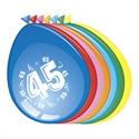 Ballonnen 45 jaar (30cm, 8 stuks)