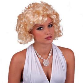 Pruik Marilyn Monroe blond (57542E)