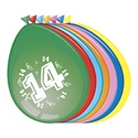 Ballonnen 14 jaar (30cm, 8 stuks)