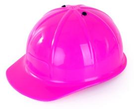Verstelbare bouwhelm pink/roze (74443P)