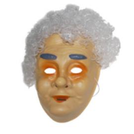 Masker oudere vrouw - witte haren (61329E)
