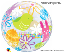 Bubble Spring Bunnies & Flowers (90595Q)