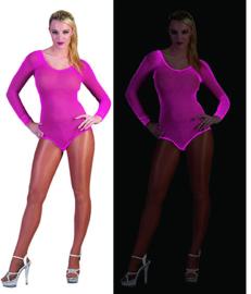 Visnet bodysuit neon Roze (59344E)