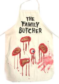 Bloederige slagers schort (74410E)