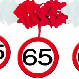 Slinger met onderhanger verkeersbord 65 jaar (05236F)