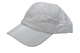 Cap pailletten wit verstelbaar (23083GF)