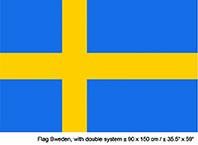 Vlag Zweden - 90 x 150 cm (62338E)