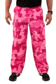 Broek camouflage roze (99112P)