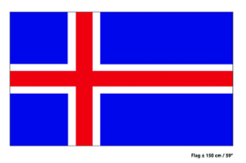 Vlag IJsland - 90 x 150 cm (62458E)