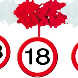 Slinger met onderhanger verkeersbord 18 jaar (05217F)