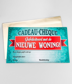 Cadeau-cheque NIEUWE WONING (38PD)