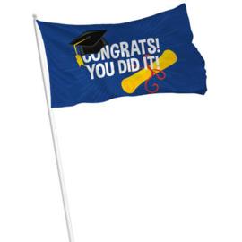 Vlag geslaagd Congrat you did it -  90 x 60 cm (29440F)