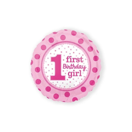 Folieballon 1 - First Birthday Girl (AM3254001)