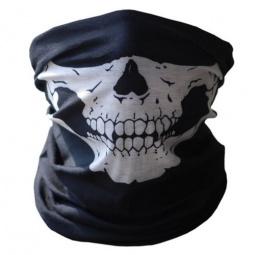 Mond- en halsdoek Skull Wit (2350GF)