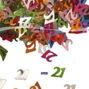 Tafelconfetti - sierconfetti  - 21 jaar (05312F)