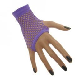 Nethandschoenen kort vingerloos Neon Paars (12507P)