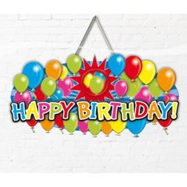 Deurbord / huldeschild Happy Birthday (04596F)
