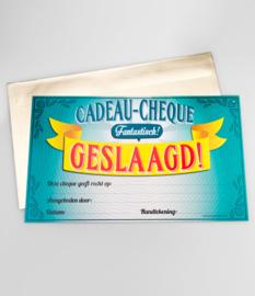 Cadeau-cheque GESLAAGD! (32PD)
