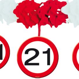 Slinger met onderhanger verkeersbord 21 jaar (05220F)