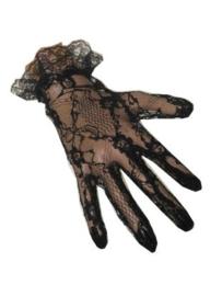 Handschoenen kant - kort Zwart (12087P)
