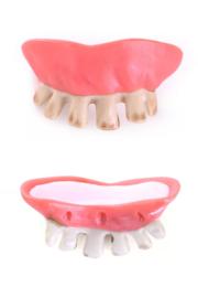 Gebit Scheve Tanden grauw met putty (34068P)
