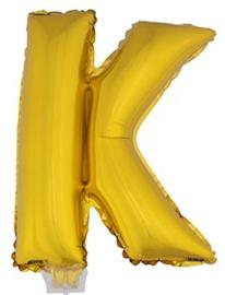 Folie Letter K - 41 cm Goud (met stokje)