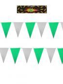 Vlaggenlijn Groen Wit 10 meter (94980P)