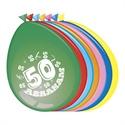 Ballonnen 50 jaar Abraham (30cm, 8 stuks)