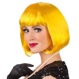 Cabaret Bobline pruik Geel (85895B)