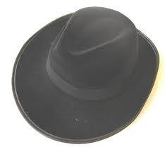 Hoed zwart Al Capone (60307E)