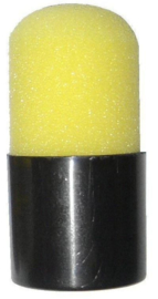 Mini foam schminkspons - grimeerspons  geel (40026P)