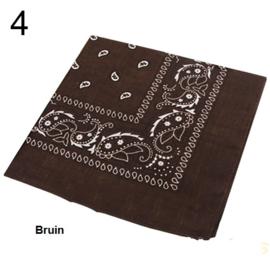 Bandana / boerenzakdoek Bruin (100% katoen - 004)