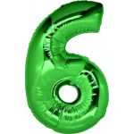 Folie Cijfer 6 - 100 cm Groen