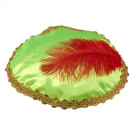 Piet baret Groen met veer (56507B)