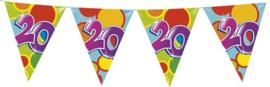 Vlaggenlijn ballonnen leeftijd 20 jaar (10 meter)