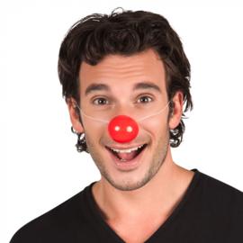Clownsneus plastic rood met elastiek (55000E)