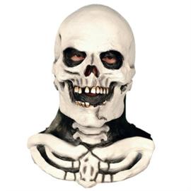 Masker Doodskop met hals (60226W)