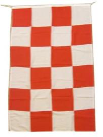 Vlag Rood/Wit Luxe Brabants bont  -  90 x 150 cm (97062P)
