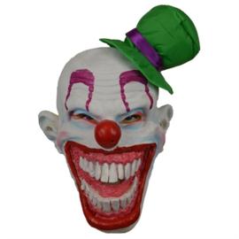 Masker Clown Groene Hoed (60253W)