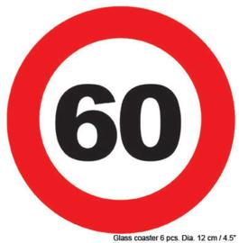 Onderzetters verkeersbord 60 jaar (84421E)