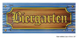 Deurbord Biergarten 20,5x51cm - 2 stuks (84362E)