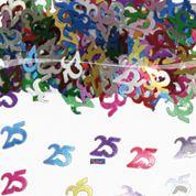 Tafelconfetti - sierconfetti  - 25 jaar (05313F)
