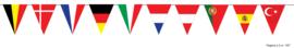 Vlaggenlijn Europese landen - 5 meter (84083E)