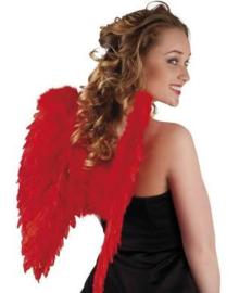 Vleugels engel Rood - 50 cm (52822B)