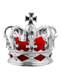 Kroontje koning zilver met haarclips (53836E)