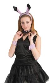Playboy bunny set roze met zwart (53821E)