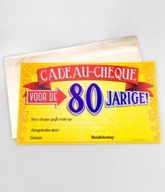 Cadeau-cheque 80 JAAR! (25PD)